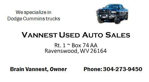 Vannest Used Auto Sales - 304-273-9450
